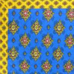 "French Quilted cotton placemat Blue ""Batiste"" 14x18"