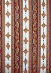 """Beige Volutes"", French Border Stripe Fabric 55"
