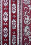 """Red/White"" French Border Stripe Fabric 67"