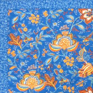 "French Table Runner Blue ""Colombe"" 18x40"