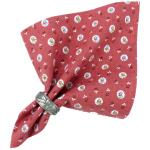 "Provencal Cotton Napkin Red ""Flowers"