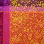 Orange French Jacquard Placemat with Colombe pattern