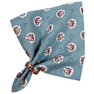 "Provencal Table Napkin Blue ""Flowers"