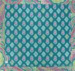 "Square Provencal Table Mat Emerald ""Calissons"" 30x30"