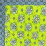 "French Quilted cotton placemat Green ""Batiste"" 14x18"